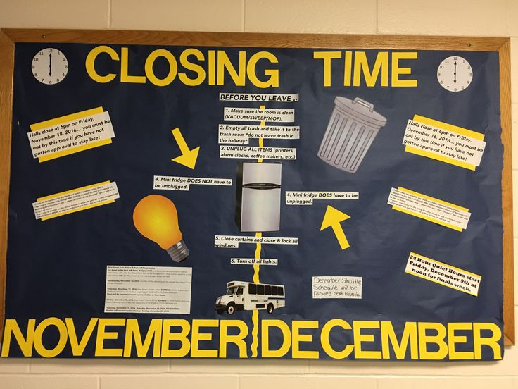 Closing information for Thanksgiving and winter breaks!