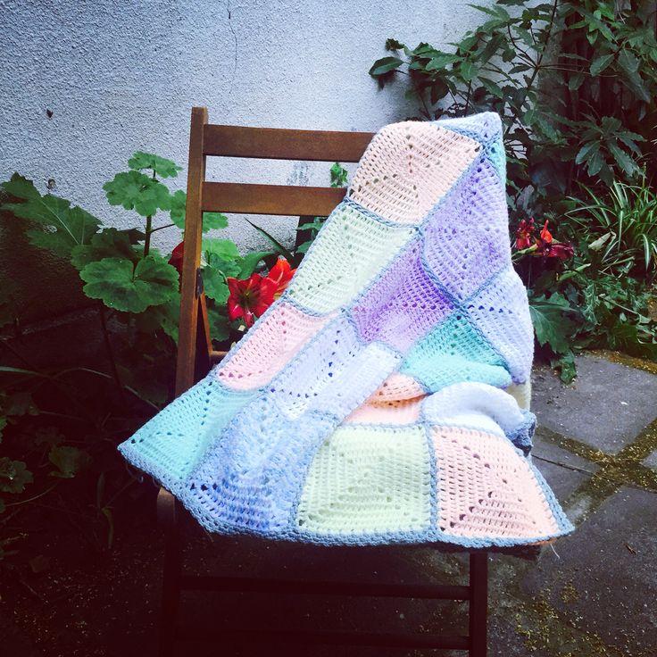 Manta lista! #crochet #manta #blanket
