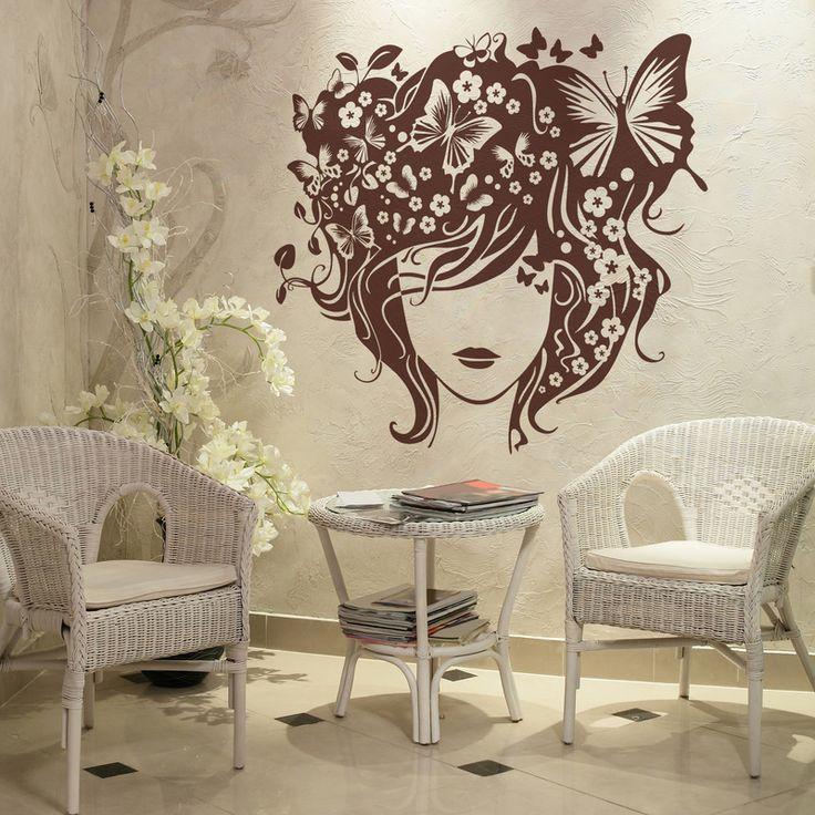 28 best decorar peluquerias con vinilo images on pinterest for Vinilos mariposas
