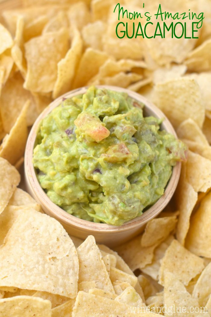 My mom's recipe for her amazing guacamole!  This is going to be the recipe that you keep on hand for all your parties!: