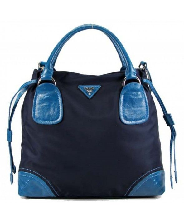 Prada sac en toile et cuir bleu 29250 http://www.saclongchamppascherfrance.com/sacs-prada.html