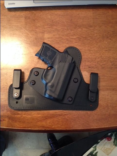 My latest addition Bodyguard 380 snug in its new Alien Holster. Very comfortable combination for concealed carry.