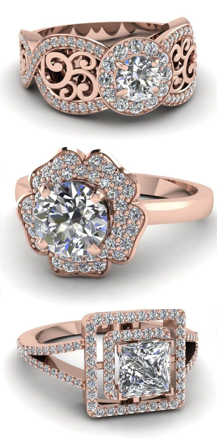 Halo Diamond Engagement Ring ♥ #wedding #love #anniversary