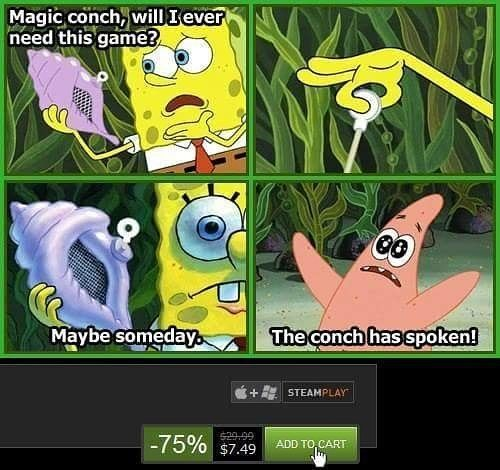 😧 stupid conch.   #gamer #gamergirl #gamers #games #game #videogames #videogame #nerd #gamersunite #pc #steam #gaming #memes #nerds