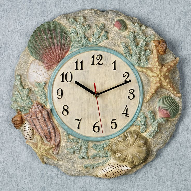 1011 best images about decorating ideas on pinterest for Seashell clock