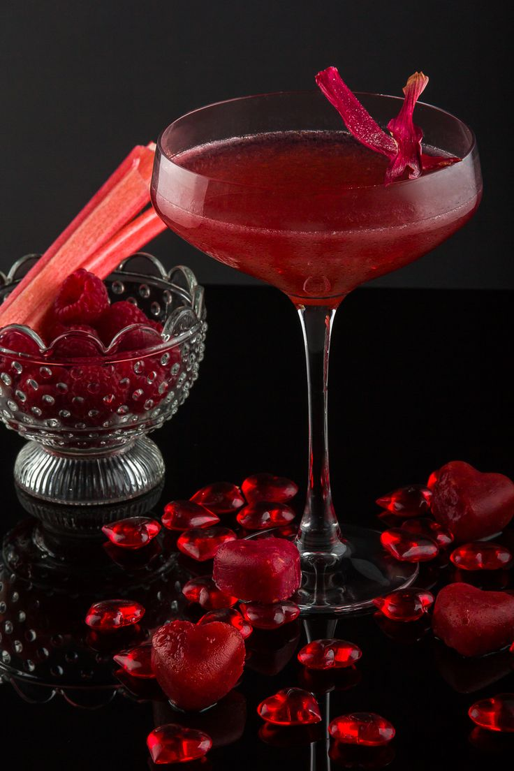Framboise Sauvage - Chase rhubarb vodka passionately shaken with fresh raspberries, Chambord, lychee and lemon.  Lovingly topped with Champagne in a large coupette and garnished with dehydrated rhubarb.  This cocktail is sure to have you infatuated and wanting more. #CreateCocktails