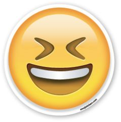 Smiling Face with Open Mouth and Tightly Closed Eyes | Emoji Stickers