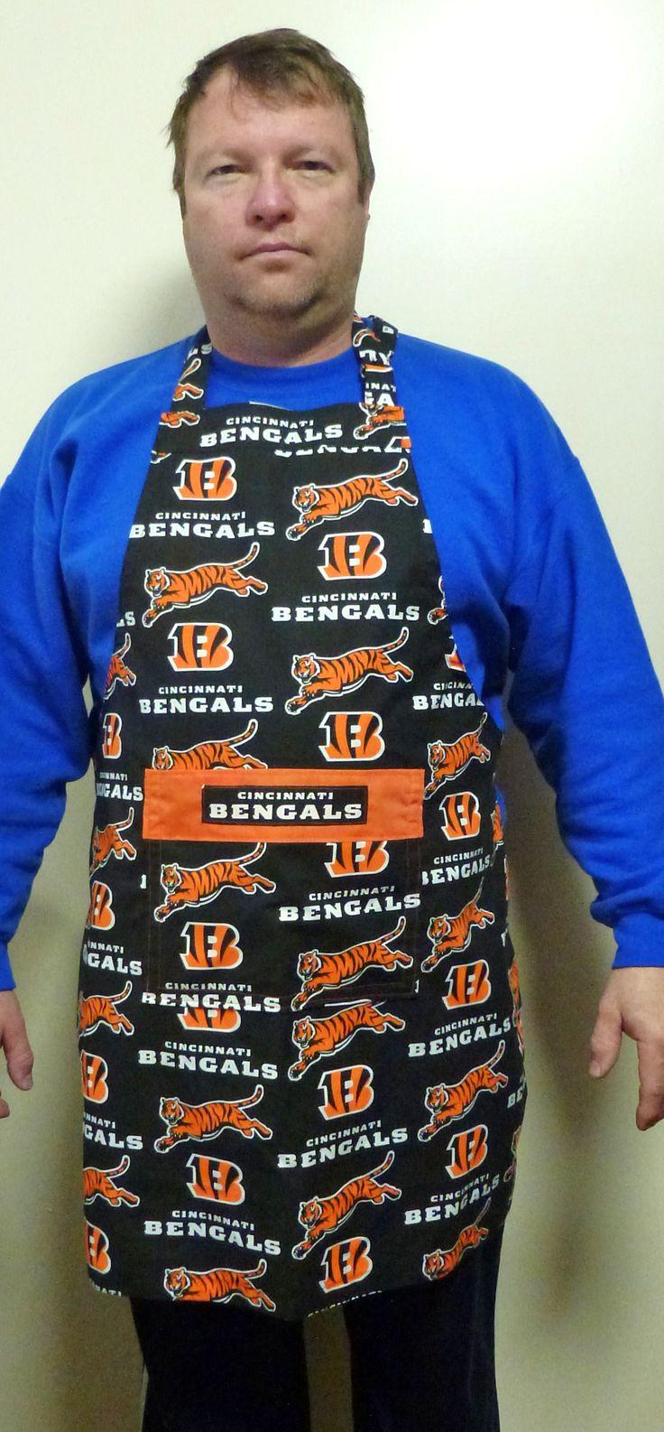 Cincinnati Bengals Apron, Unisex Style Football Team Apron, Mens Aprons, Womens Aprons, Sports Team Apron, Gifts for Men