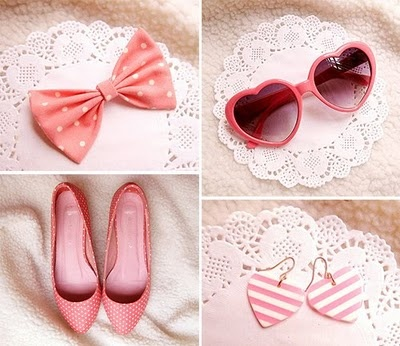 .: Things Pink, Fashion, Heart, Style, Girly Things, Pink Pink, Accessories, Pretty