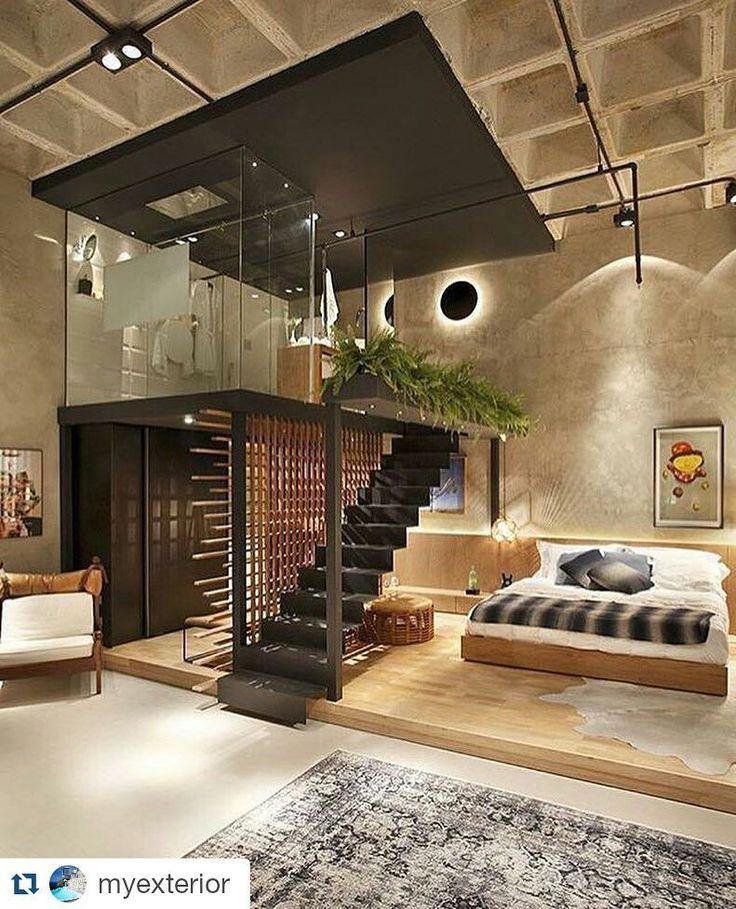 Pé direito gigante! #loft #Repost @myexterior with @repostapp Residence in Brazil Design : Intown Arquitetura