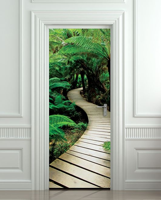 33 best door stickers images on pinterest door stickers film door sticker palm tree path mural decole film self adhesive poster cm sold by pulaton shop more products from pulaton on storenvy planetlyrics Image collections