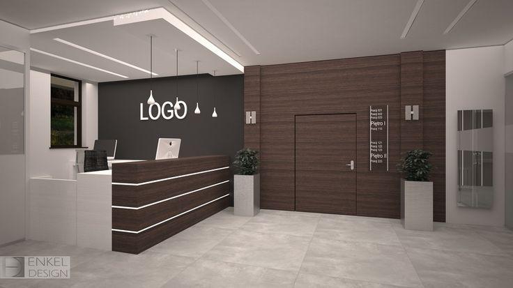Projekt recepcji w budynku usługowo-biurowym Wspólnoty Lokalowej w Rzeszowie