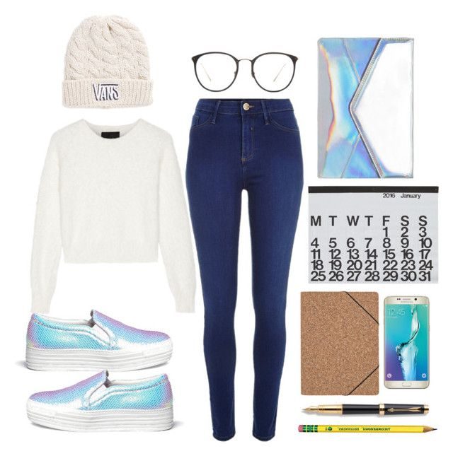 Untitled #15 by lauralionels on Polyvore featuring polyvore fashion style Line River Island Joshua's Vans Linda Farrow Crate and Barrel Nomess Parker Samsung clothing