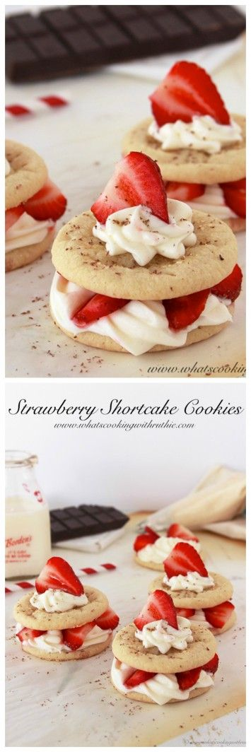 Strawberry Shortcake Cookies on www.cookingwithruthie.com is a delightful fresh strawberry dessert!