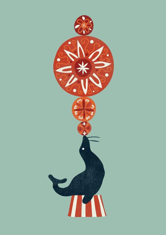 Poster | CIRCUS SEAL von Budi Kwan | more posters at http://moreposter.de