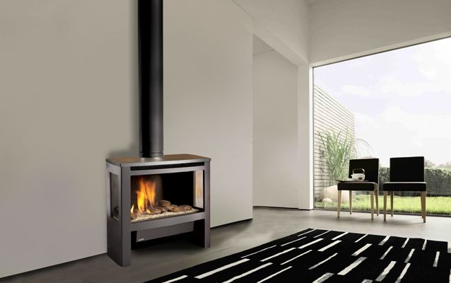 Freestanding Fireplace Gas Fireplaces And Fireplaces On