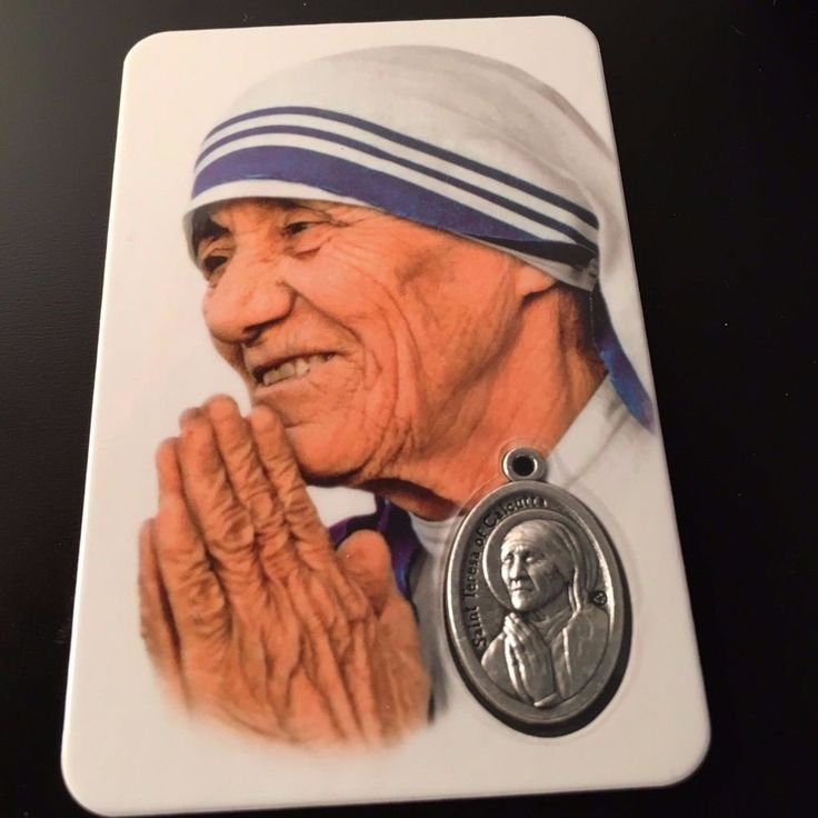 🌟 St. Mother Teresa - Madre Teresa Calcutta - photo Holy card w/ medal -Blessed