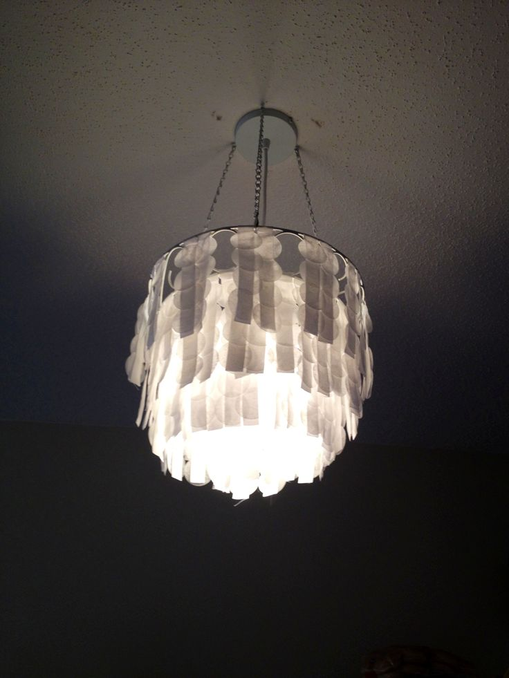 wax paper chandelier Stylecaster stylecaster fashion beauty  22 genius diy chandelier ideas for decorating on a budget  design sponge created a similar look using wax paper.