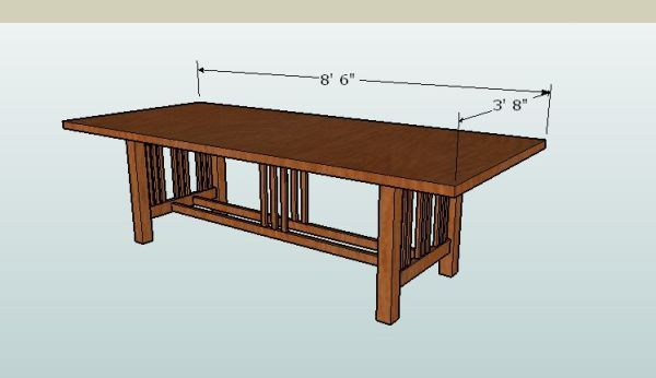 Shaker dining table plans free woodworking projects plans for Free dining table plans