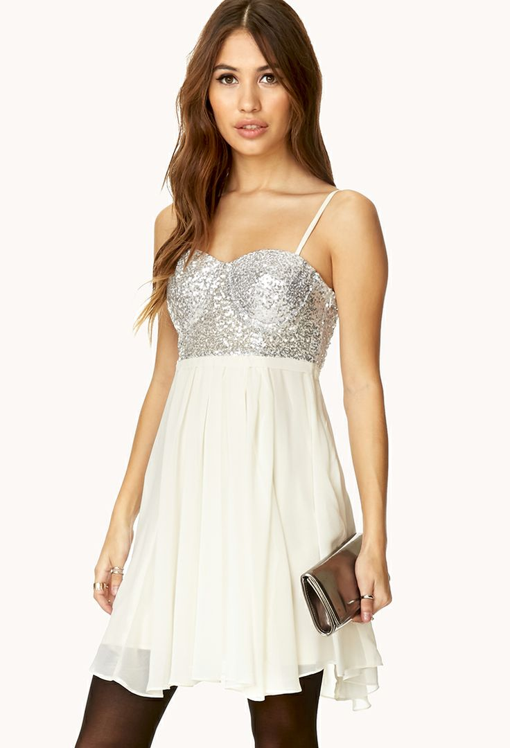 Darling Sequined Combo Dress $32.80 Forever 21