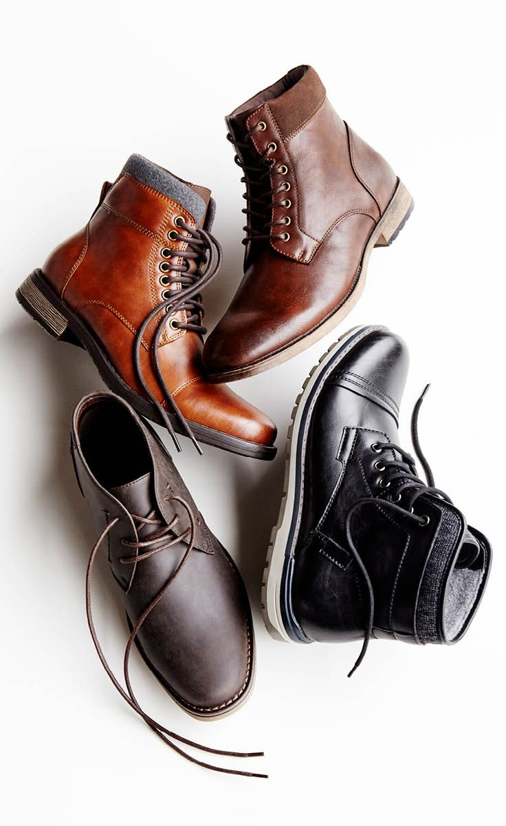 This fall, guys have their choice in boots, too. Hiking boots, chukka boots, lace up boots, dress boots and more are right on trend and right on price. Find what fits his comfort and style that gets him where he needs to go. Shop men's boots now.