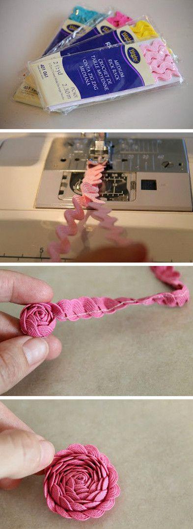 bloemen van zigzagband