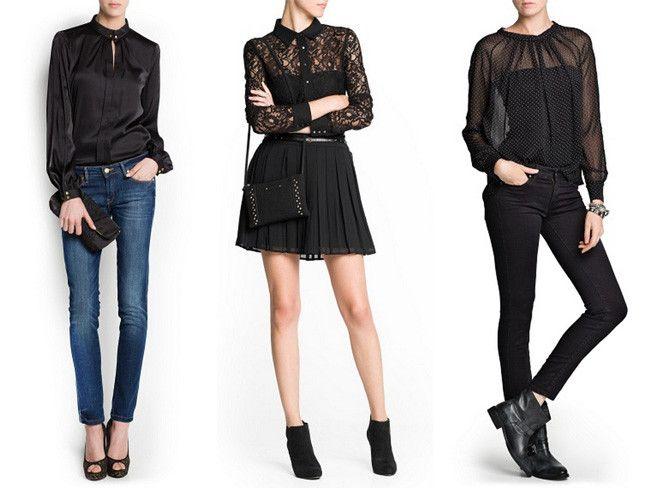 No te puede faltar una blusa negra jamás