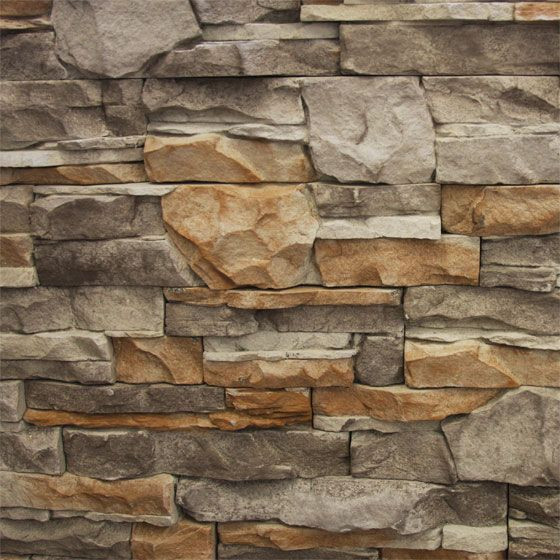GO-Stone Panels -Manufactured Stone Veneer - Go-Stone Panels - Cherokee Flats / varies / Flat / 5 Square Feet