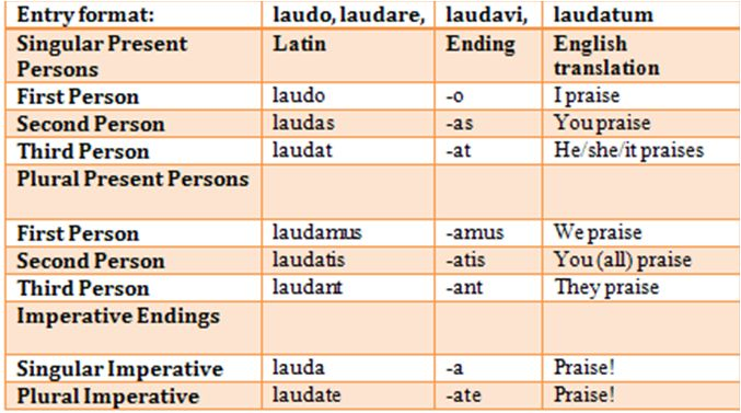 latin verb conjugation chart pdf