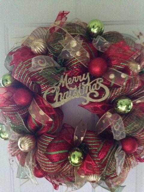 Christmas Lights Deco Mesh Christmas Wreath