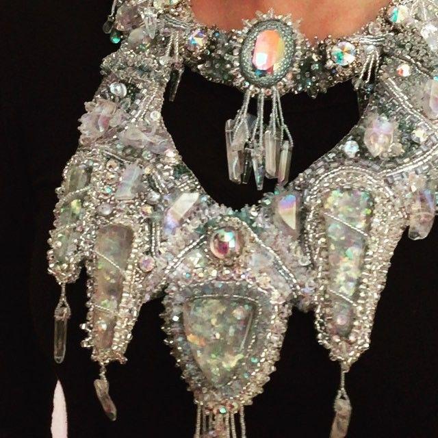 Baïkal necklace for BOTB15 #beadartist#beadembroidery #beads #instabeads #handmade#creation #swarovski #miyuki#necklace #unique #oneofakind #ooak #etsyseller #EBEG#rock #crystal#cristalderoche #phoebespearlsgeneve #facebookpage #switzerland #swisshandembroidersguild