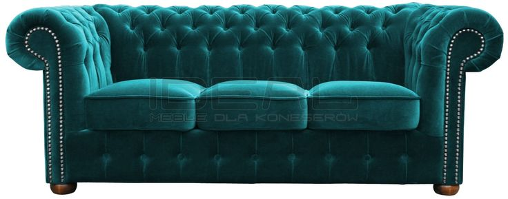 niebieska sofa chesterfield, blue chesterfield, pluszowa sofa chesterfield, velvet chesterfield, styl angielski, armchair   niebieski, błękitny, lazurowa, indygo, turkusowa, navy, Sofa  sofa_chesterfield_classic_IMG_3249g.jpg (1200×472)