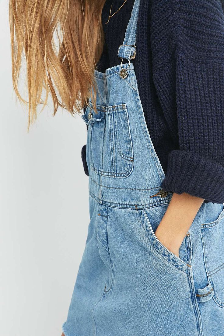 Urban Renewal Vintage Re-Made Dungaree Dress - Urban Outfitters