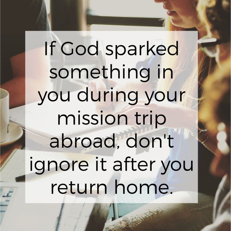 Be obedient to the nudge you feel in your heart to stay involved after you return home from a mission trip. Click through for 6 easy ways to stay plugged in.