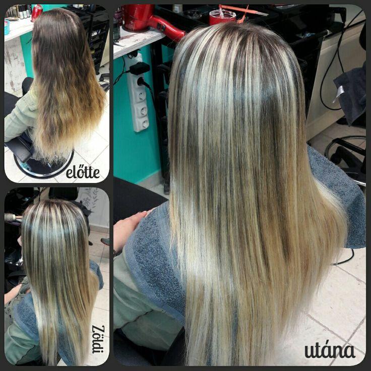 #zöldiszilvia #mywork #munkám #hajfestés #haircolor #balayage #ombre