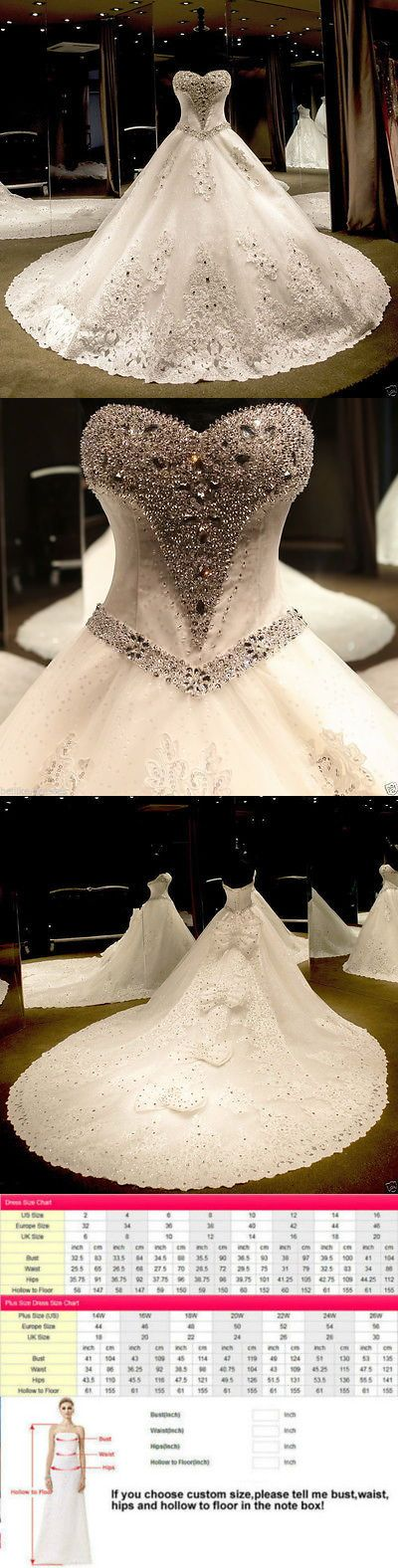 Wedding Dresses: New Ivory/White Wedding Bridal Gown Dress Custom Size 6-8-10-12-14-16+++++ BUY IT NOW ONLY: $188.0