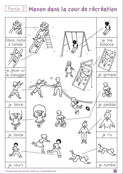 Un fichier de lecture destiné au élèves de MS, pour découvrir de nouveau mots et les utiliser. Partie 2 (novembre - décembre)