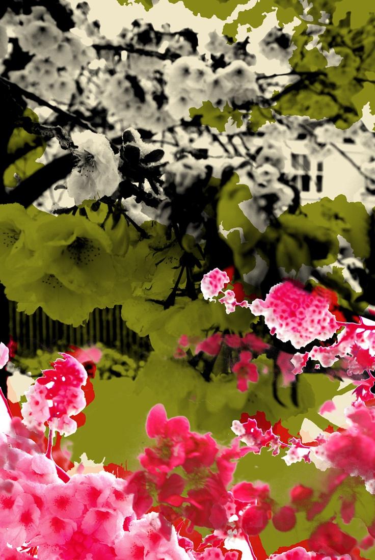 'Blossom' Perspex tiles for back splash
