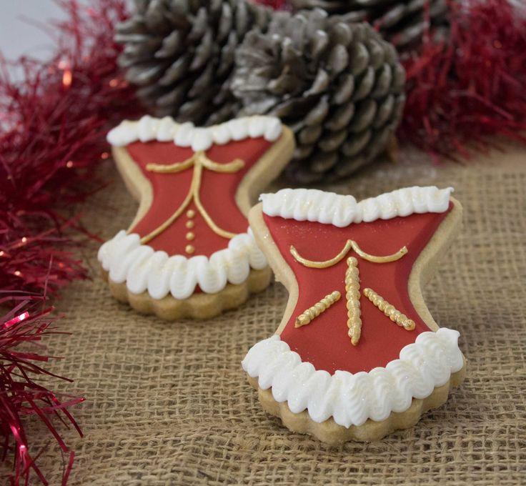 Cheeky Christmas corset sugar cookies