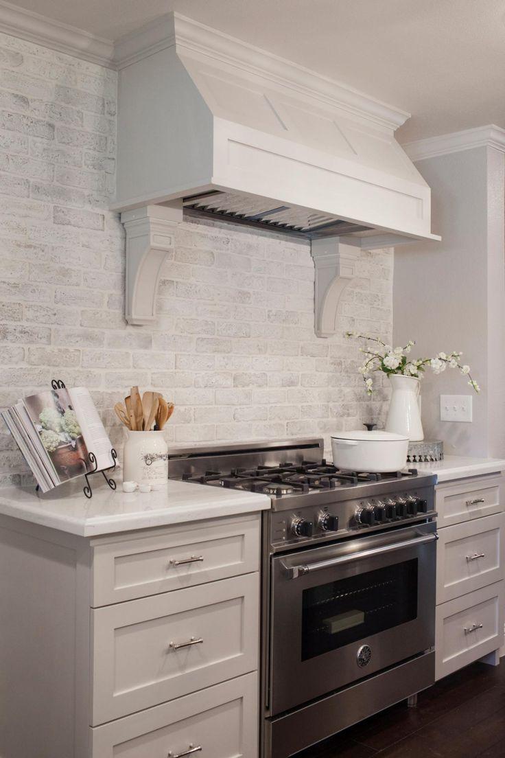 Best 25 whitewashed brick ideas on pinterest - White brick kitchen tiles ...