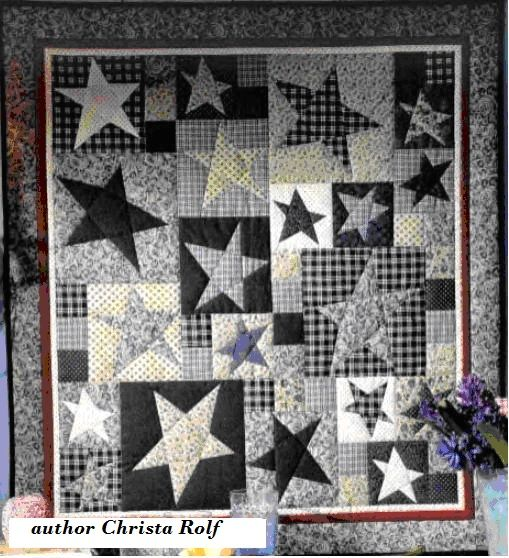 Black & White wonky stars. Is this the Buggy Barn method?