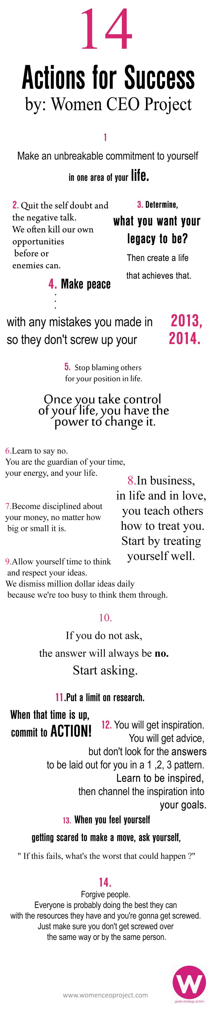 14 Actions for 2014 Success --->#pic www.womenceoproject.com/mastermind
