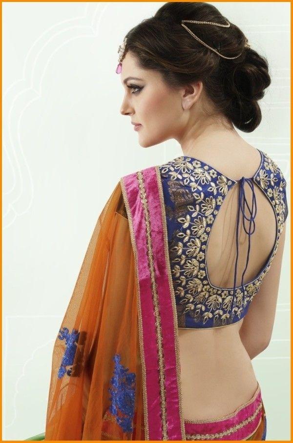 Best Saree Blouse Back Neck Designs 2016  #Saree #Blouse #Designer #BlouseBackNeckDesigns #SilkSarees #NeckDesigns