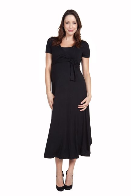 Cammie Long Maternity Wrap Dress by Nom | Maternity Clothes    available at www.duematernity.com