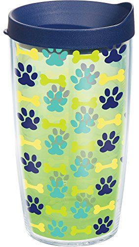 Tervis Tumbler Puppy Prints Dog Wrap 16oz with Travel Lid