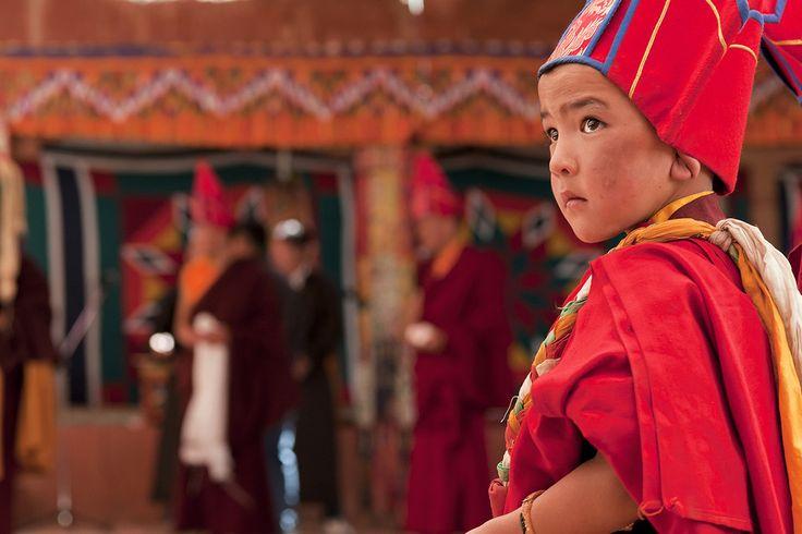 Il piccolo monaco e il suo primo festival #india #ladakh #monk #buddism