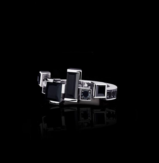 04815365222dd Introducing the NEW Cubism Radiant ring with Australian black ...