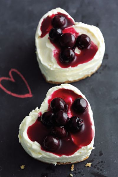 Mini Blueberry Cheesecakes   Red