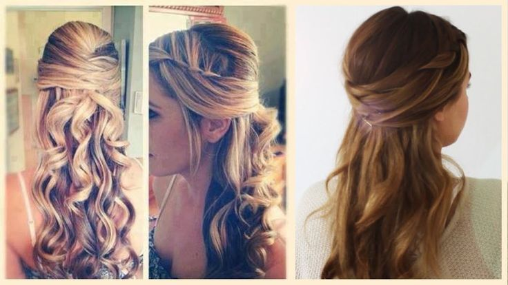 Prima Festive Hairstyles Half Pinned Up