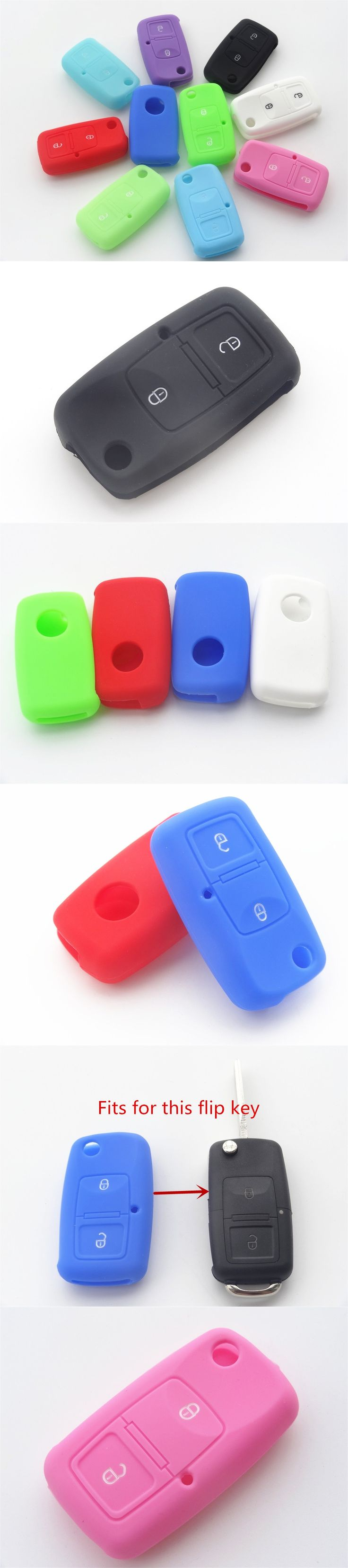 Silicone Key Cover For VW Volkswagen Passat Polo Golf Jetta Bora SEAT Ibiza Leon SKODA Octavia Fabia Colorful 1pc